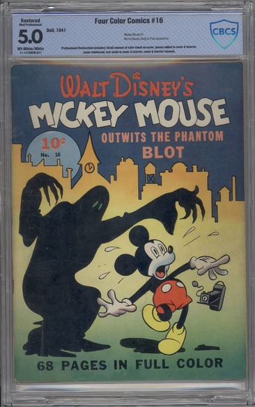 Four Color (1939 series) #16 - Walt Disney's Mickey Mouse Outwits the Phantom Blot