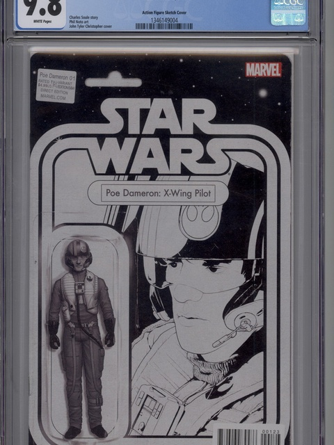 Poe Dameron (2016 series) #1 [John Tyler Christopher Action Figure Black and White Variant]