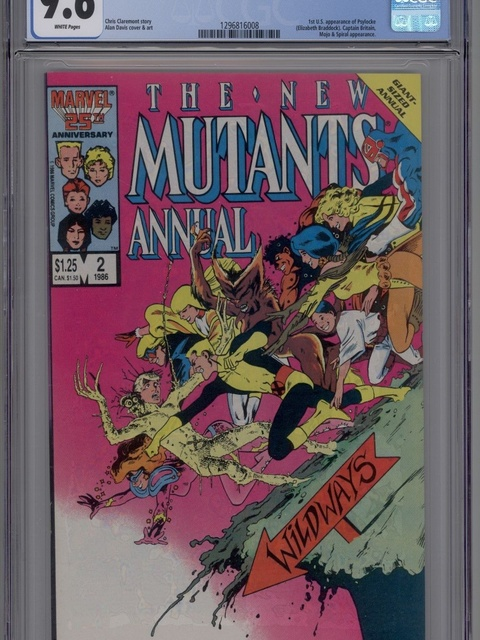 The New Mutants Annual (1984 series) #2 [direct]