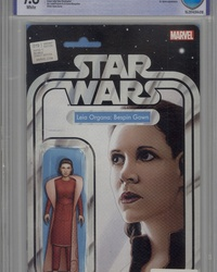 Star Wars (2015 series) #19 [John Tyler Christopher Action Figure Variant (Leia - Bespin Gown)]