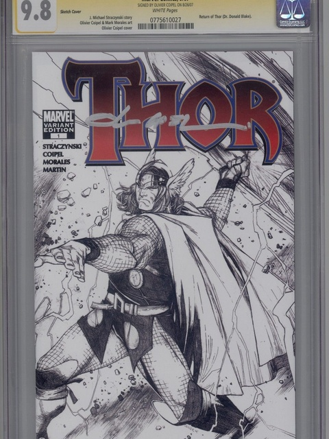 Thor (2007 series) #1 [Sketch Variant Cover]