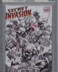 Secret Invasion (2008 series) #7 [Limited Edition Sketch Variant]